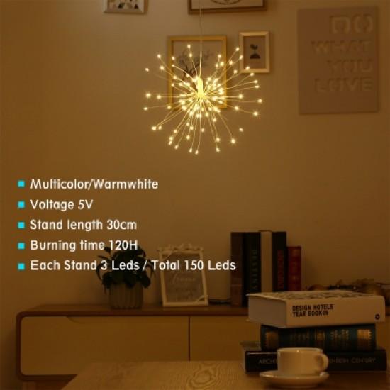 2PCS LH - BOM - YHD150WW LED Starburst String Lamps